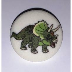 Dinosaurus Hvid knap nr. 1
