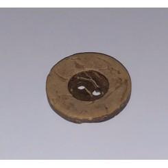 Kokosknap 2 huls 1,5 cm