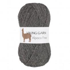Alpaca Fine fv. 615 Mørk Grå , Viking