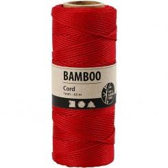 Bamboo snor Rød 1 mm x 65 m