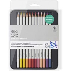 Watercolor pencil 24 stk i tinbox
