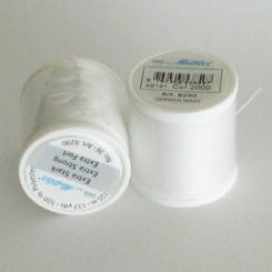 Ekstra stærk perletråd hvid, 125 M