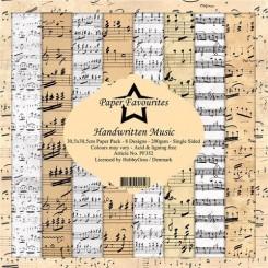 Handwritten Music 30 x 30 cm