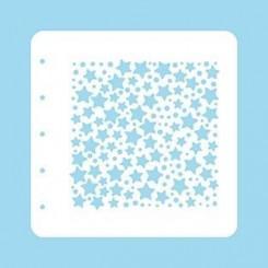 Stencil 08, Stars & dots 15 x 15 cm