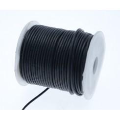 Læder snørre sort 1,5 mm x 1 m