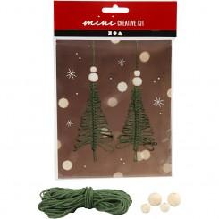 Juletræer knyttede, mini kit