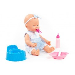 Baby Doll, med potte og spisebestik
