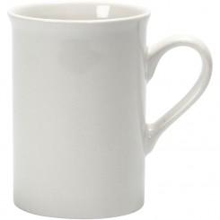 Krus H: 10 cm hvid porcelæn