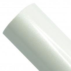 Glittervinyl Hvid 30,5 cm x 1 m