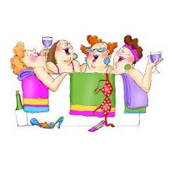 Girlfriends i boblebad