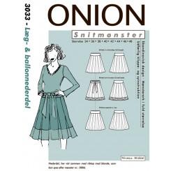 Onion mønster 3033 ballon Nederdel
