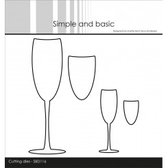 Champagne glas dies Simple and basic