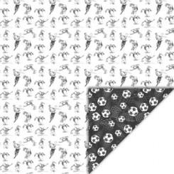 Fodbold/ spiller Sort / hvid ark 30 x 30