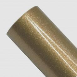 Glittervinyl guld, 30,5 x 100 cm