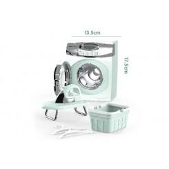 Vaskemaskine, strygejern og kurv