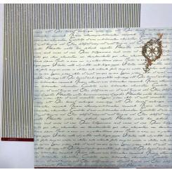 Maritim Old script scrapark 30 cm