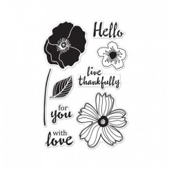 Hello Flower stempel