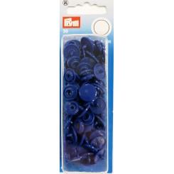 Prym tryk knap Blå plast 30 sæt