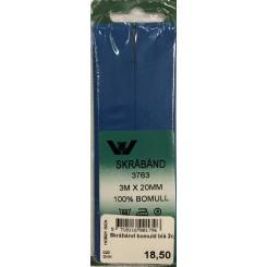 Skråbånd bomuld blå 2cm x 3m