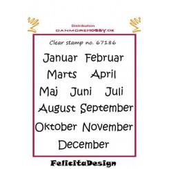 Kalender måneder, stempel