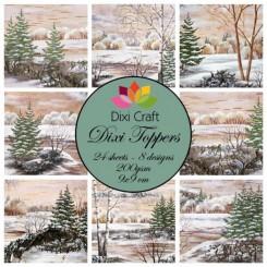 Vinter toppers landskabs papir