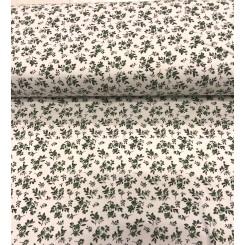 Interlock print Jersey, Grøn blomst