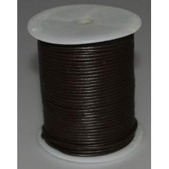 Lædersnørre 2mm x 1m sort