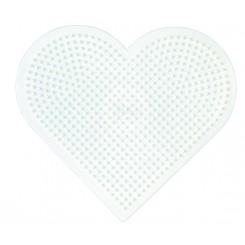Perleplade Hjerte hvid stor
