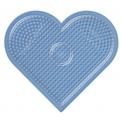 Hjerte perleplade 17 cm