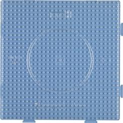 Perleplade 15 x 15 cm transperent