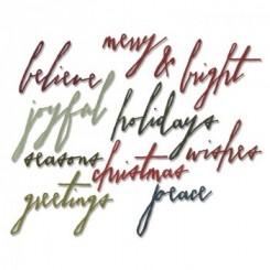 Handwritten holidays dies, Sizzix