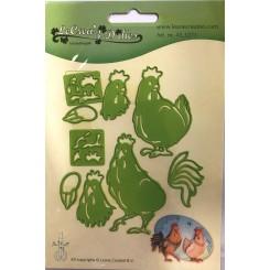 Rooster & Hen dies , Leane Creatief
