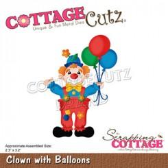 Clown with balloons, CottageCutz
