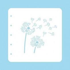 Dandelion stencil A6. NS