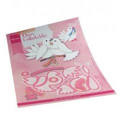 Love birds dies, Marianne Design