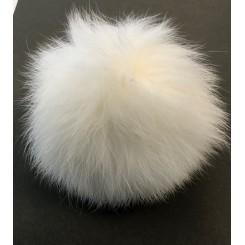 Pom Pom hvid 6 cm