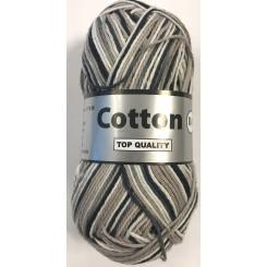 Cotton 8/4 meleret sort - hvid