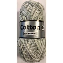 Cotton 8/4 meleret Grå - hvid