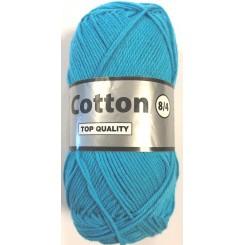 Cotton 8/4 fv. 838 Turquis blå