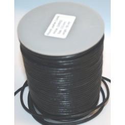Læder snørre 3 mm x 1 m sort
