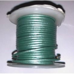 Lædersnørre metallic  1mm x 1 m