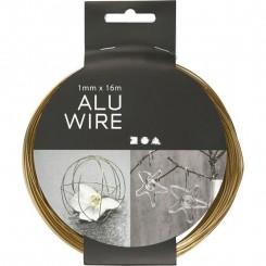 Alutråd 1 mm x 16m Guld