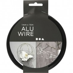 Aluwire sort 1 mm x 16 m