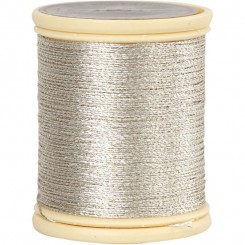 DMC metallic tråd sølv