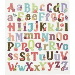 Bogstaver store+ små stickers 1 ark