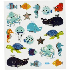 Havets fisk  stickers 1 ark
