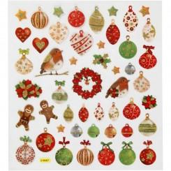 Stickers julekugler