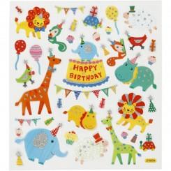 Dyre fødselsdag stickers 1 ark