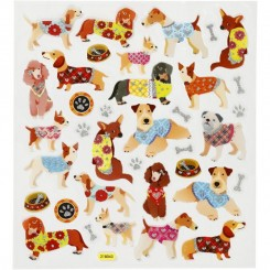 Hunde stickers 1 ark
