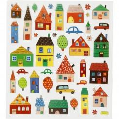 Forskellig Huse stickers 1 ark